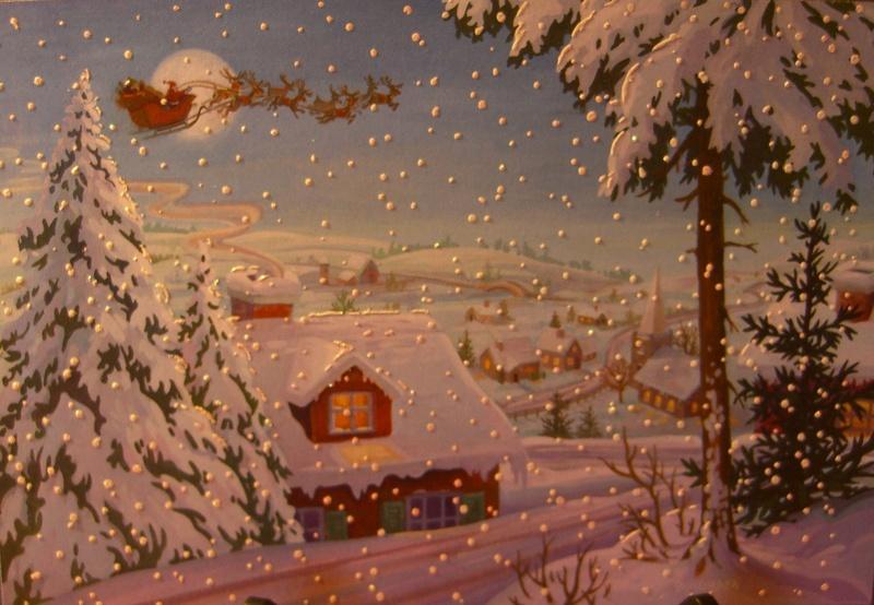 Old Christmas Cards Artist Michael Bingham For Hallmark