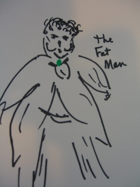The Fat Man from The Maltese Falcon ©booksandbuttons