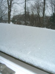another storm and the snow is climbing up the windows . . .©booksandbuttons