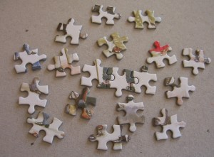 feet pieces from Dickens puzzle ©booksandbuttons