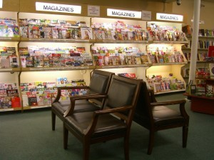 Fully stocked magazine section ©booksandbuttons