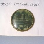 "Schiaparelli photo button 1 1/8"" diameter ©booksandbuttons"