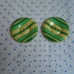 green striped cell buttons