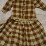terrific old brown cotton check two piece outfit ©booksandbuttons