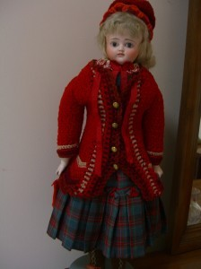 bisque doll with special wardrobe ©booksandbuttons