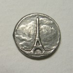 "Ardor of Paris Eiffel Tower button 5/8"" ©booksandbuttons"
