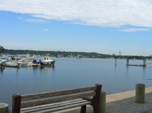 another view of a marina Masons Island Mystic CT  ©booksandbuttons