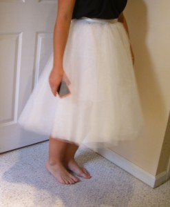 Tulle skirt---16 yards! ©booksandbuttons