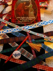 tartan ribbons for Scotland ©booksandbuttons