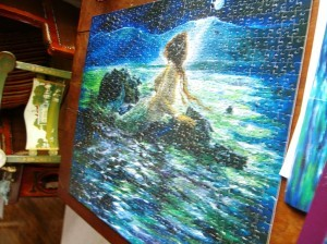 mermaid puzzle--scene from a painting by Marta G. Wiley