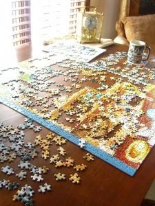 dog puzzle work
