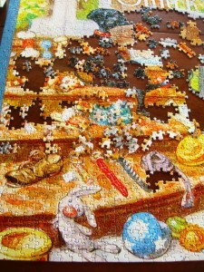 more dog puzzle work- getting there!