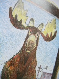 """Honk"" from Honk the  Moose by Phil Stong, illus by Kurt Wiese ©booksandbuttons"