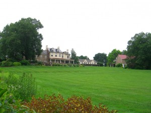 the wonderful lawn and main house at Fordhook farms