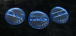 early blue glass buttons