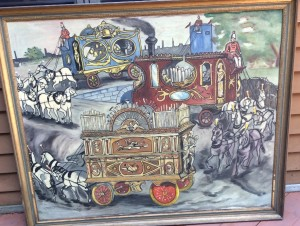 from O'Half's collection: Circus Wagons signed G.C. 64 ©booksandbuttons