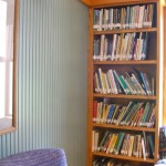 Bolton Free Library, new secion with blue wainscoting addition