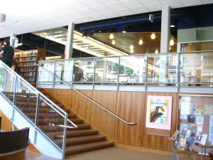 Crandall Library in Glens Falls NY--entrance foyer