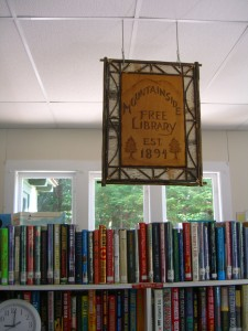 handmade sign for the Mountainside Library established 1891!