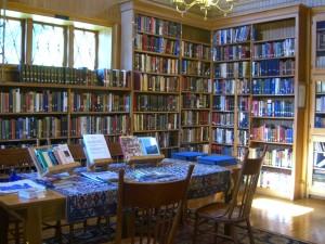 inside the library at Diamond Point NY