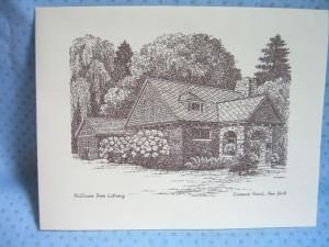 notecard Diamond Point NY library 004