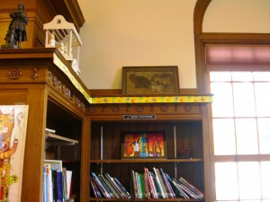 corner of the children's section at the Lake George library