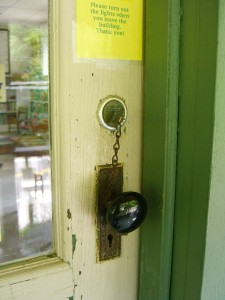 the locked door at Mountainside Library 079