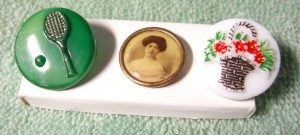three buttons bought in Covent Garden---to celebrate the British Foreign Service review! ©booksandbuttons