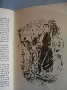 illus by V.H. Drummond in Espirit de Corps by Durrell