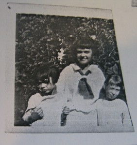 Rag Dolls and Purple Coaches; Mom in middy blouse, Mary on left