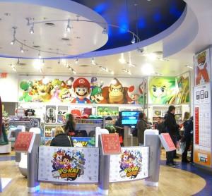 Inside the Nintendo store in New York