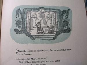 Act Five Cyrano de Bergerac at the convent Peter Pauper edition