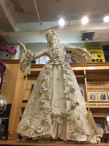 Paper lady at Drama Book Store in New York