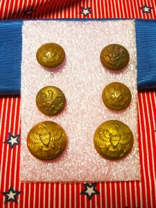 military buttons with backmarks of MN and AM©booksandbuttons
