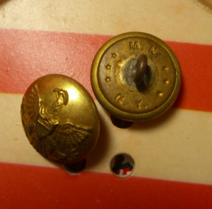 military button backmark M.N. New York