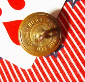 military button backmarked Horstman Bros & Co Phila PA ©booksanbuttons