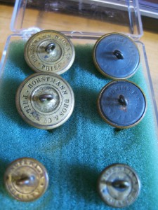 """Backmarks of """"Indian Wars"""" early buttons: Horstman, Goodwins and Superior Quality©booksandbuttons"""