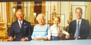 Four generations Royal Family stamp 2016 ©booksandbuttons