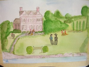 Gardencourt from The Portrait of a Lady by Henry James ©booksandbuttons