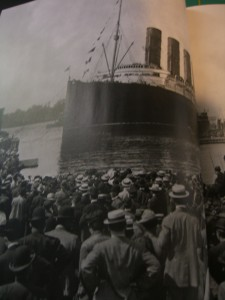 the departure of the Lusitania, photo taken from Life Magazine supplementary World War I special edition publication